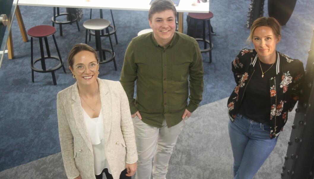 Sindre Nordby, Tanja Heglund og Kjersti Borander i Markedssjefene.