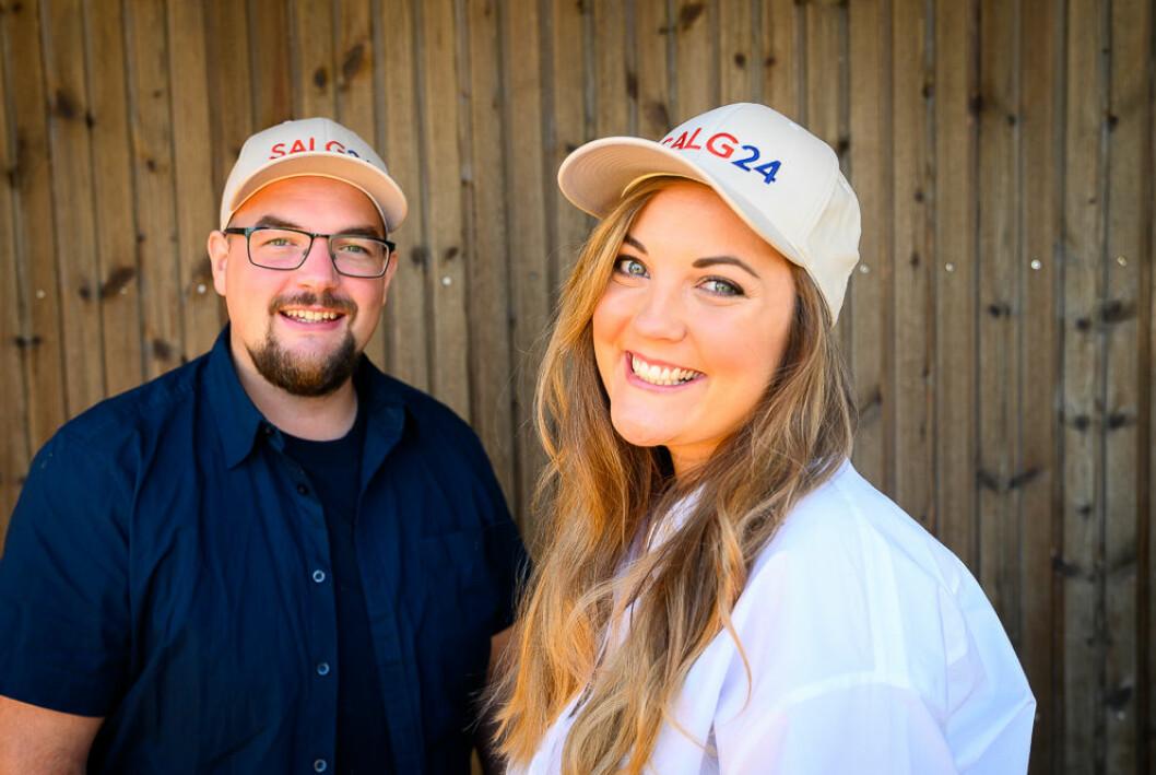 Ansvarlig redaktør Erik Waatland og journalist Elisabeth Gulbrandsen i SALG24.