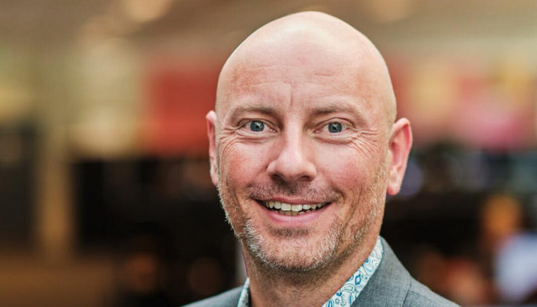 Salgsdirektør, Tore Tronerud, er fornøyd med å endelig kunne møte kundene ansikt til ansikt etter pandemien.