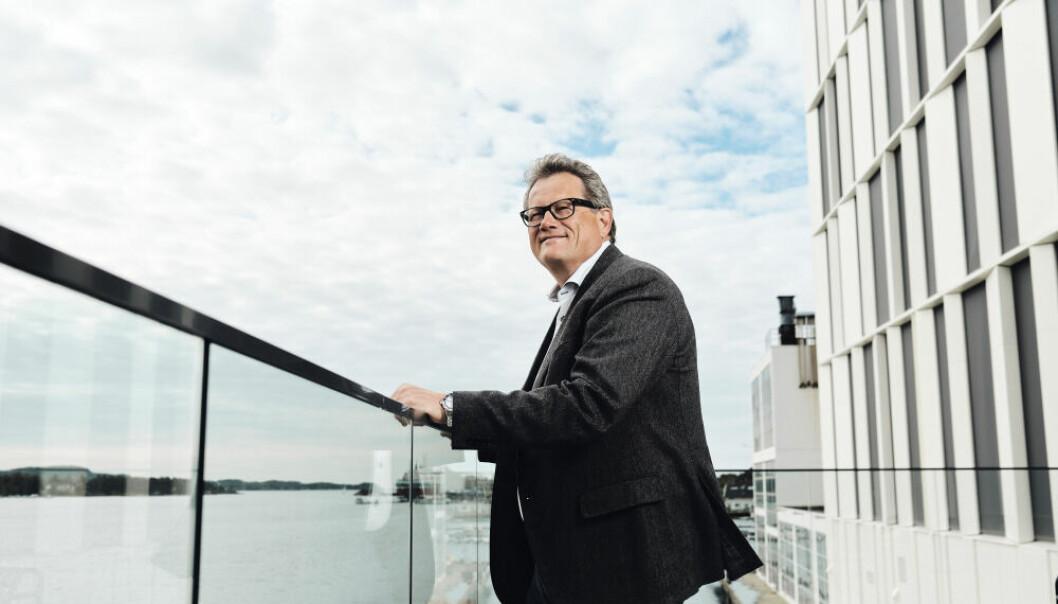 Konsernsjef Morten Fon ved Jotuns hovedkontor i Sandefjord.