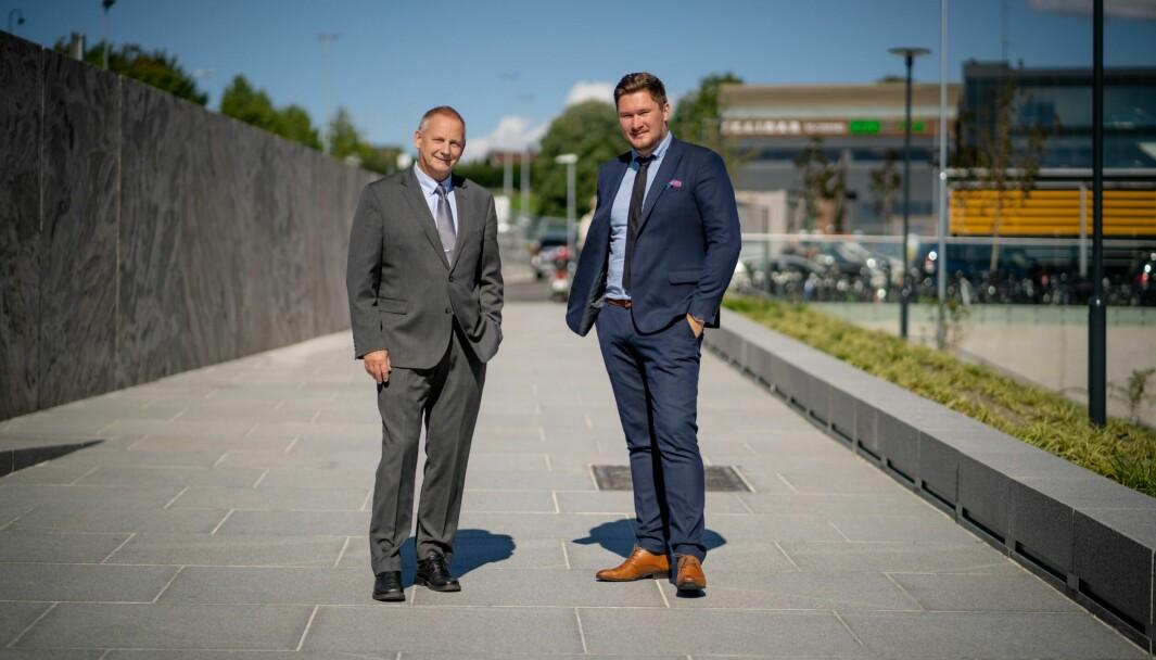 Thor Ole Fongaard (til venstre) og Stian Ulvøy holder kurs for flere ulike bedrifter og aktører.