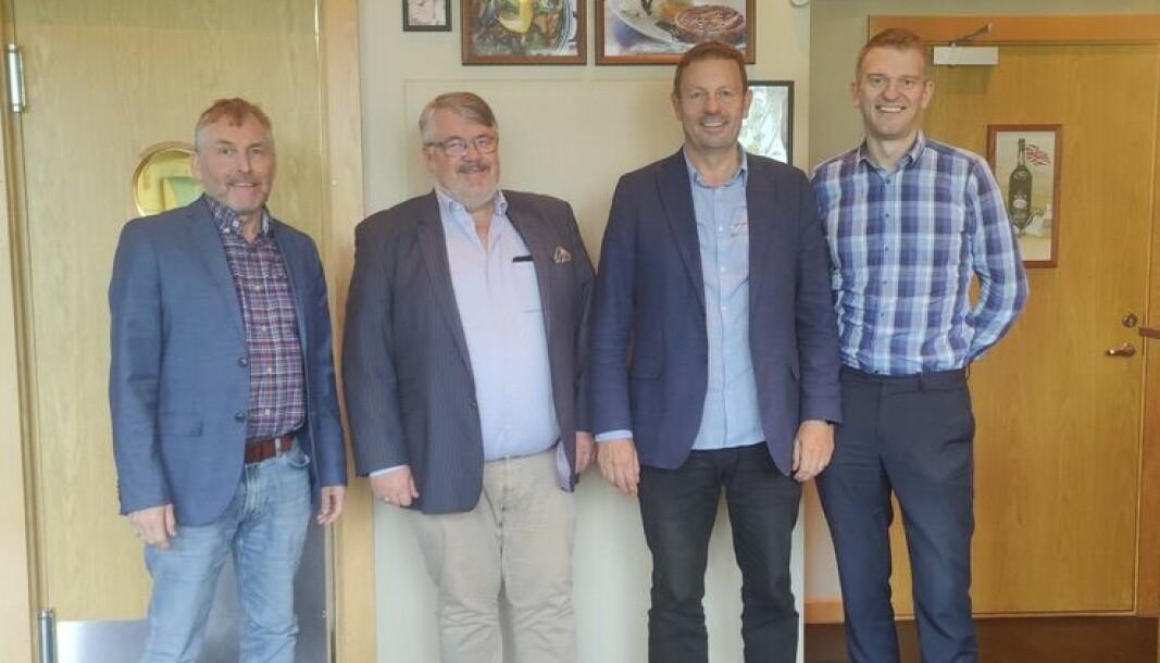Fra venstre: Ove Rød, Frode Sigurd Berg, Reidar Holm og Bjørnar Rossavik ser frem til samarbeidet.